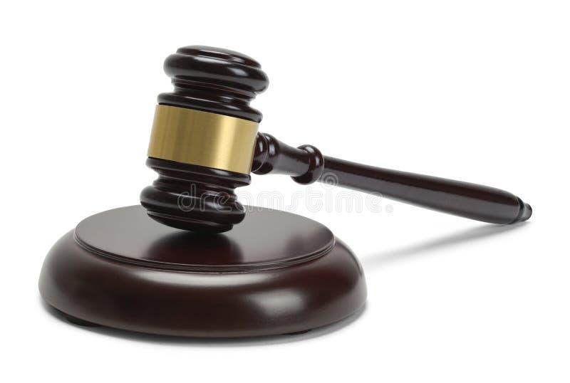 Martelo da madeira dos juizes imagens de stock