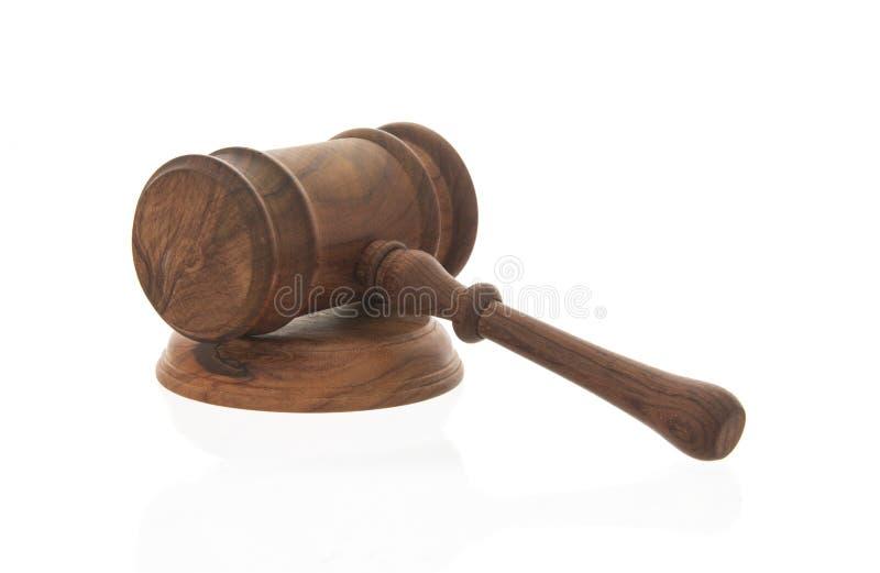 Martelo de madeira do juiz imagem de stock royalty free