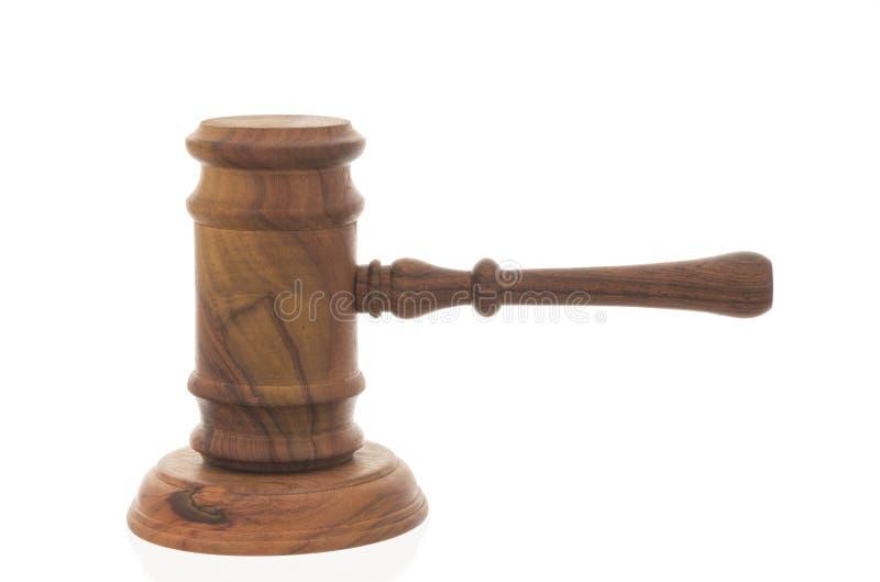 Martelo de madeira do juiz fotos de stock royalty free