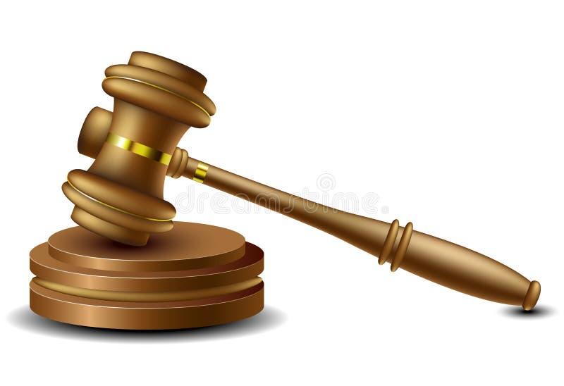 Martelo do juiz ilustração stock
