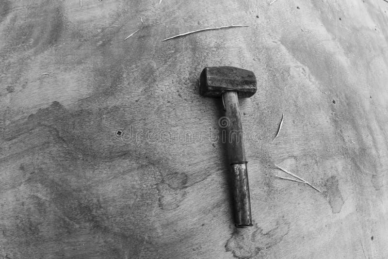 Martelo do metal usado para trabalhos fotografia de stock