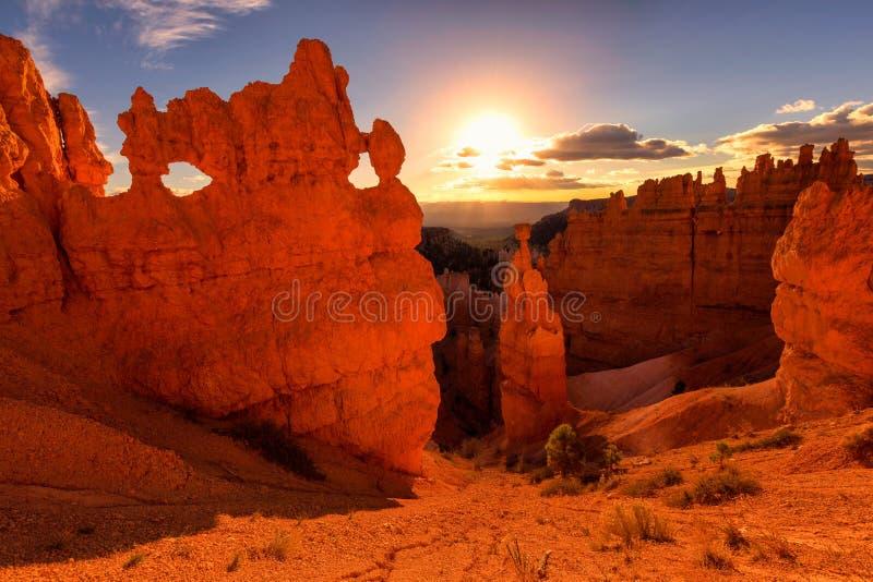 Martelo do ` s do Thor em Bryce Canyon National Park em Utá fotos de stock royalty free