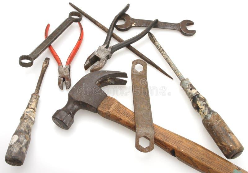 Martelo e ferramentas do vintage fotos de stock