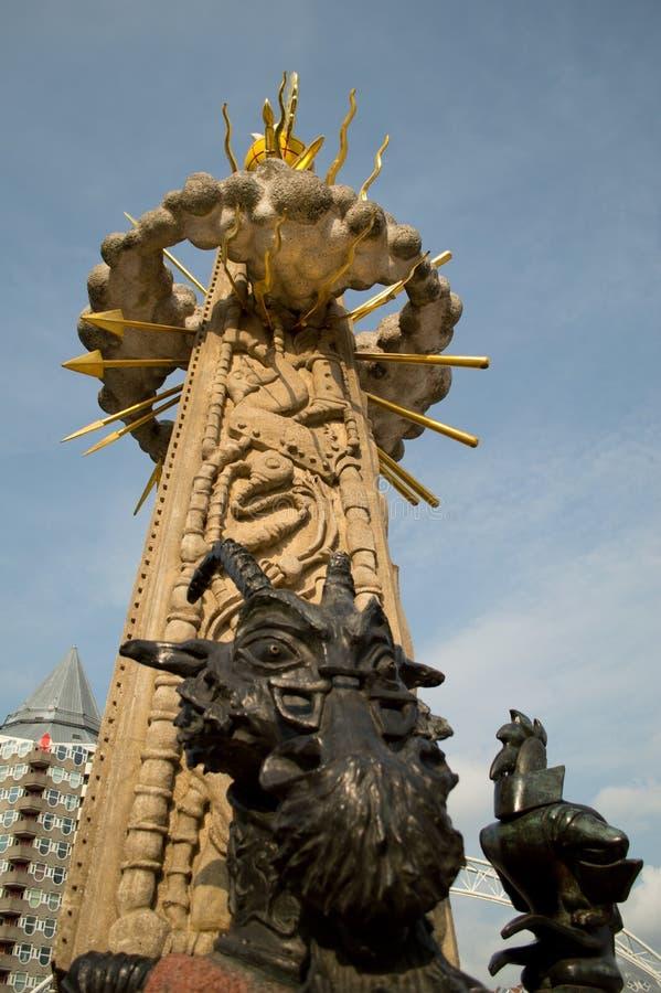 Marten Toonder monument in Rotterdam stock photo