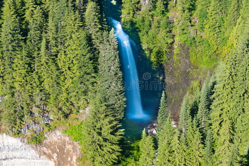Martha Falls na montagem Rainier National Park imagem de stock