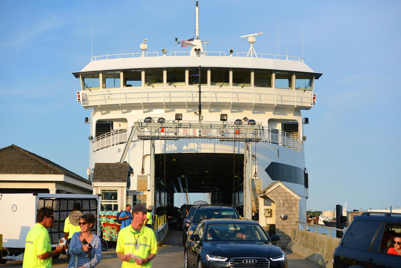 Martha's Vineyard Ferry at Tisbury, MA royalty free stock images