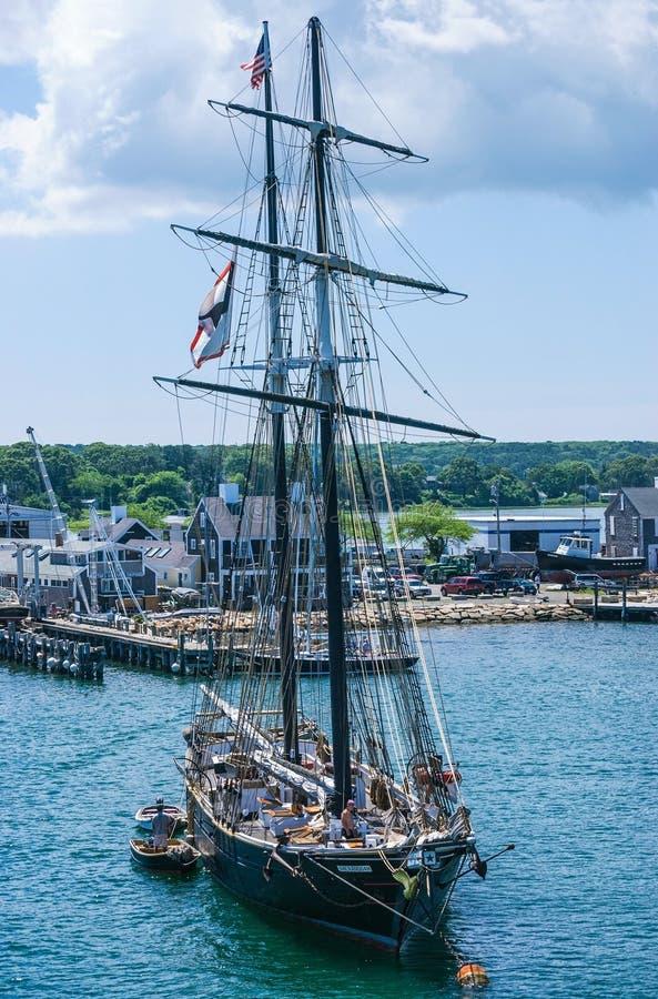 Martha's Vineyard grand de bateau images libres de droits