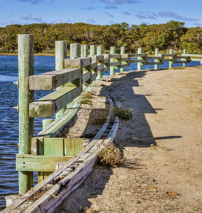Martha`s Vineyard, Massachusetts - October 21, 2018 - Chappaquiddick bridge. royalty free stock image