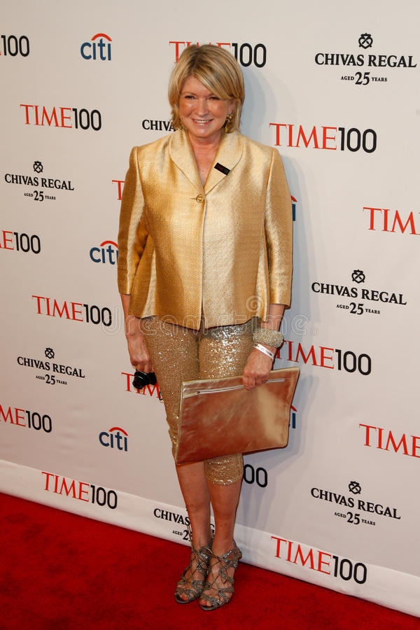 Martha Stewart. NEW YORK-APR 29: Martha Stewart attends the Time 100 Gala celebrating its Time 100 Issue of the Most Influential People in the World at the stock image