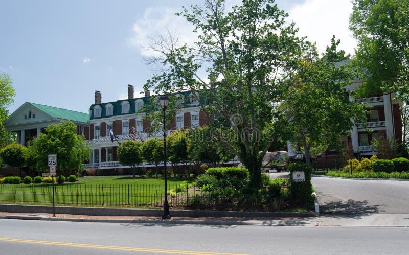 Martha Washington Inn - Abingdon, Virginia. Abingdon, Virginia USA - May 19: the Martha Washington Inn, a Four-Star, Historic Hotel of America, which was built stock photos