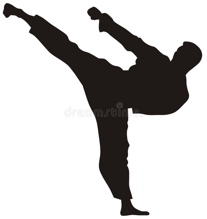 Martial art. Abstract illustration of martial art demonstration, kata stock illustration