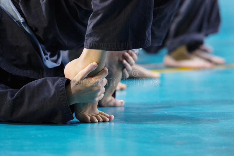 Martial art class. Martial arts, vovinam, Young pupil Learning the art royalty free stock photos