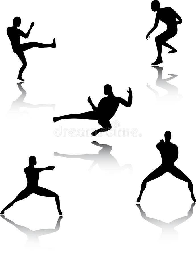 Download Martial Art Pose stock vector. Illustration of kempo, wrestle - 4656244