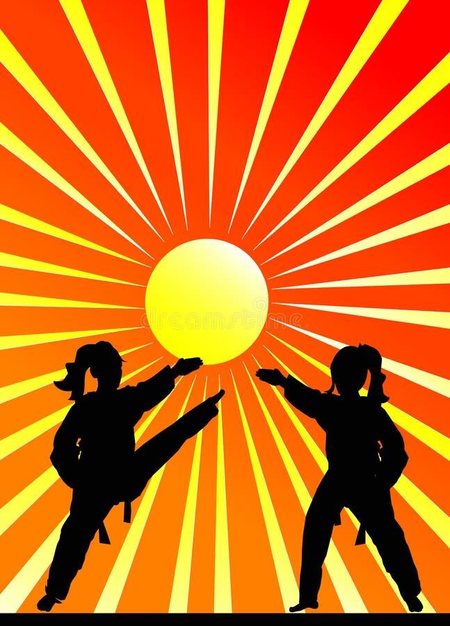 Martial arts royalty free illustration