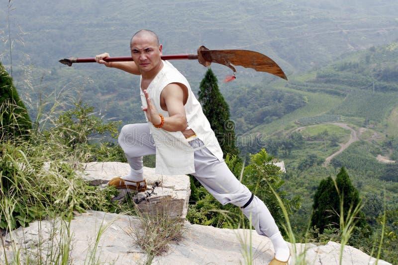 Martial arts....broadsword. stock photos
