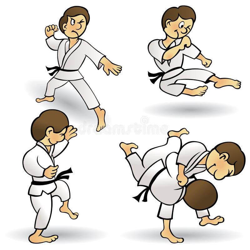Martial Arts - Cartoon stock illustration