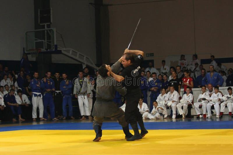 Martial arts evening stock photography