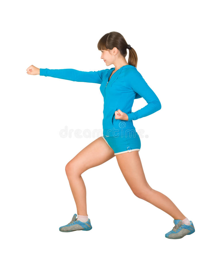 Download Martial arts exercises stock image. Image of sport, beautiful - 16620007