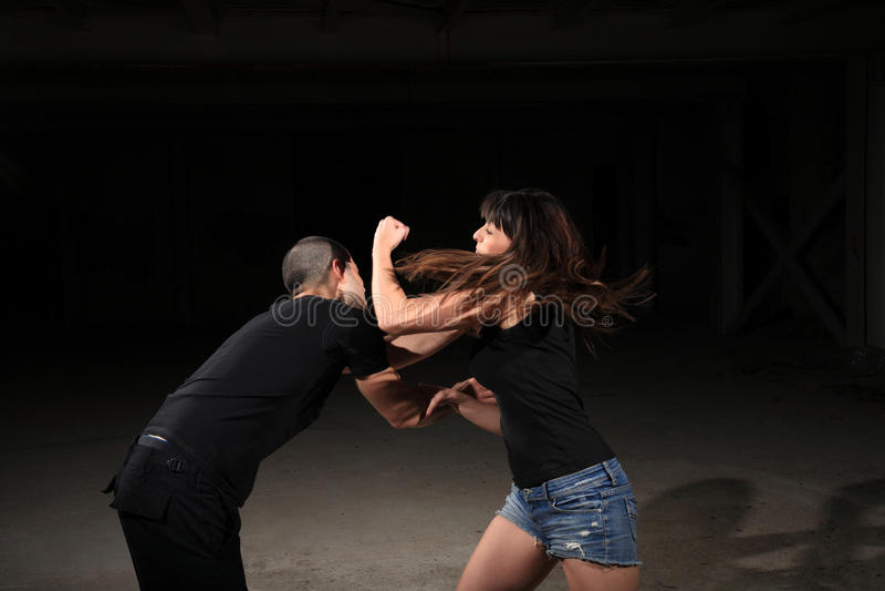 Martial arts female instructor stock photo