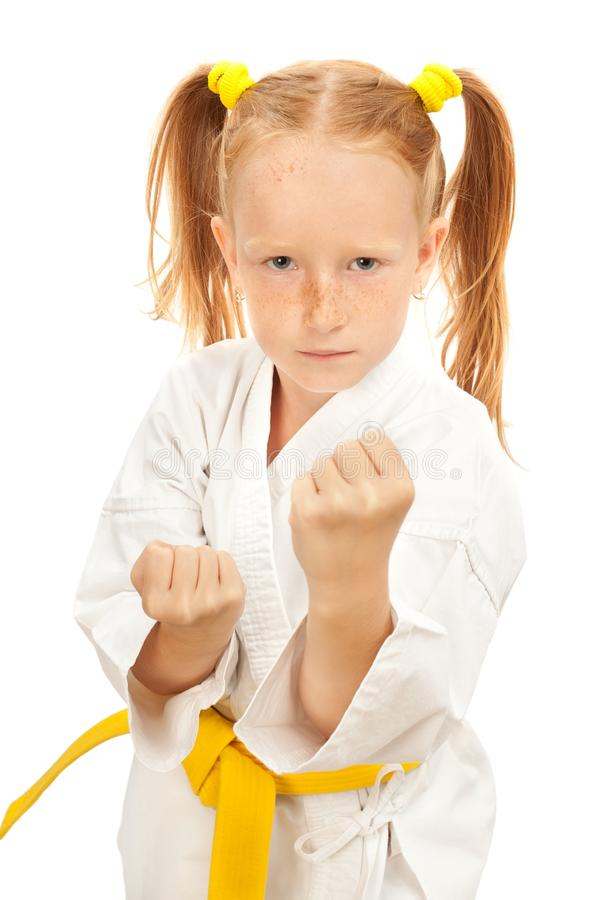 Martial arts girl royalty free stock images