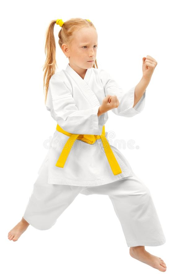 Martial arts girl stock images