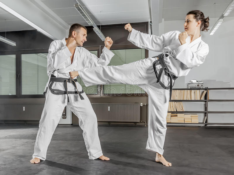 Martial arts master stock images