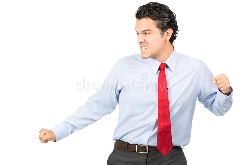 Martial Arts Pose Hispanic Business Professional royalty free stock images