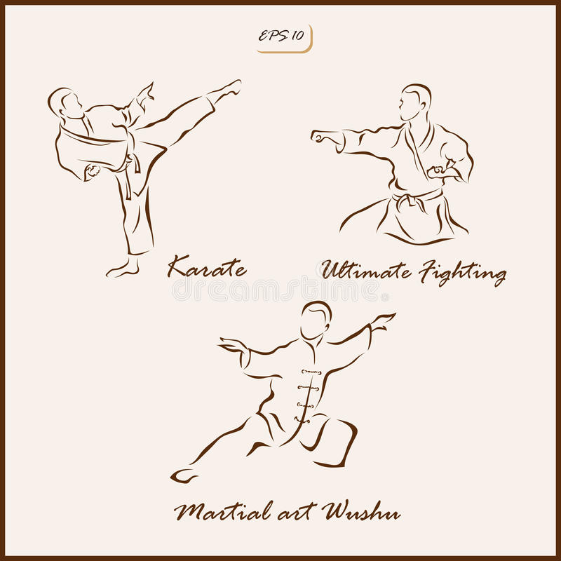 The Martial arts royalty free illustration