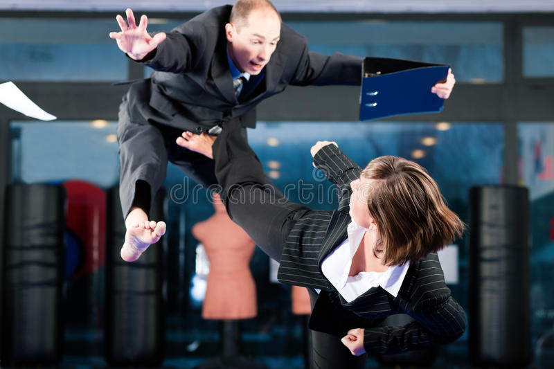 Martial Arts sport training and business royalty free stock photos