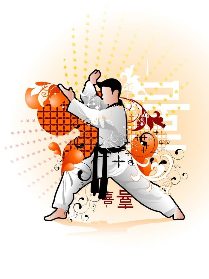 Martial arts vector illustration stock illustration