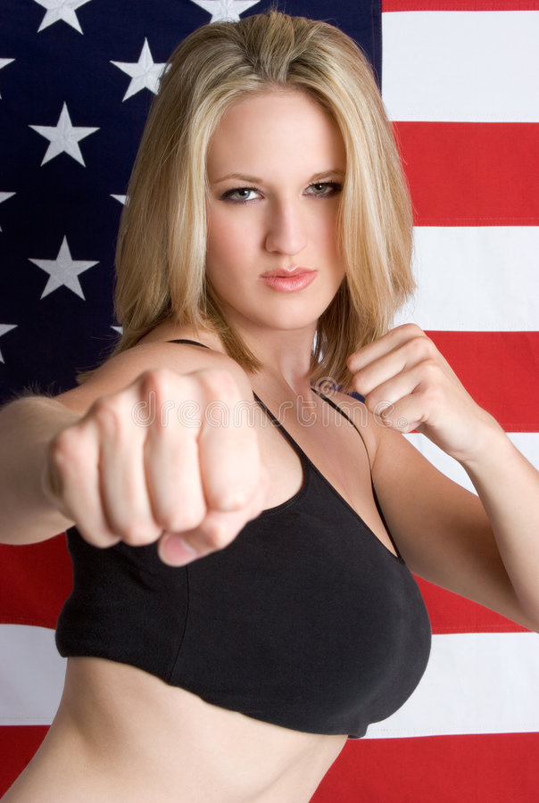 Martial Arts Woman royalty free stock photo