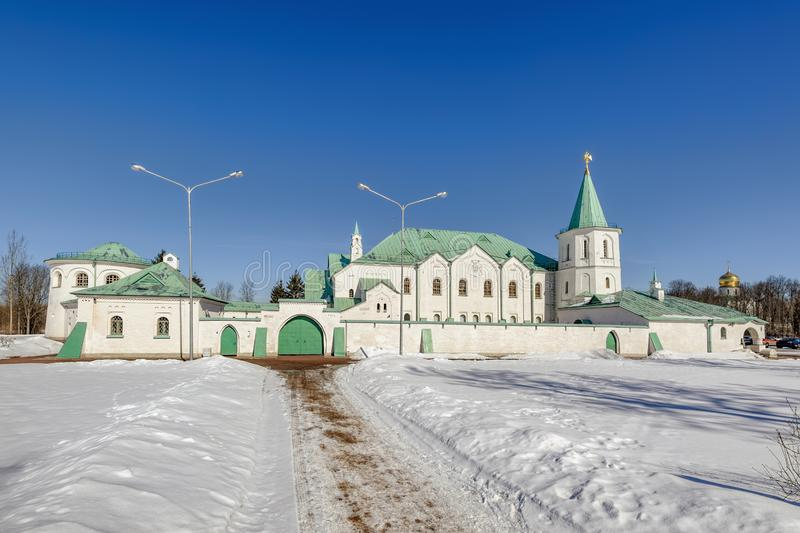Martial Chamber, the Museum of the First World War in Pushkin (Tsarskoye Selo), Saint-Petersburg, Russia. Winter landscape in the Alexander Park with Martial stock images
