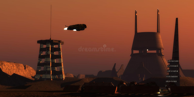 Martian Colonist Complex foto de stock royalty free