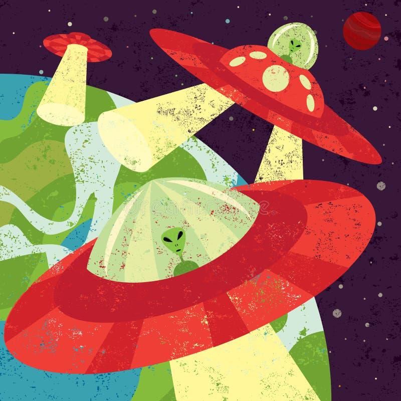 Martian Invasion royaltyfri illustrationer