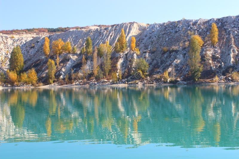 The Martian Lake. Bakhchisaray. Crimea. royalty free stock images