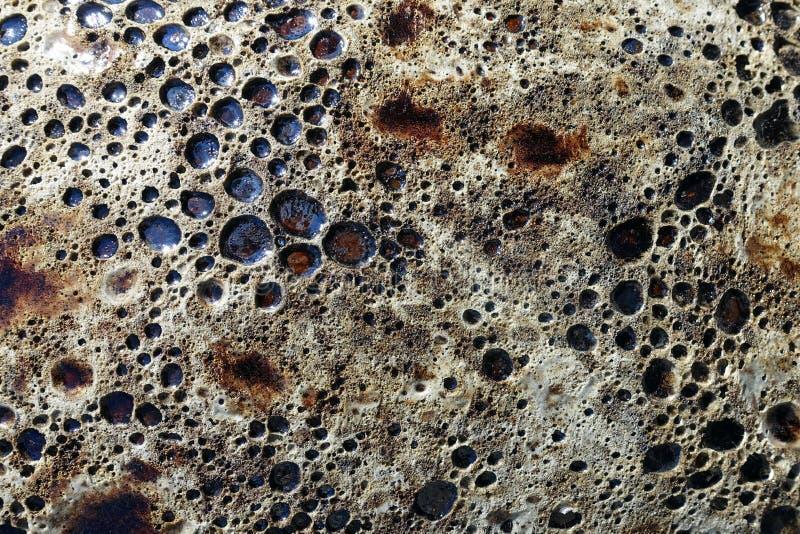 Martian-Like Landscape Background | Pottery Glazing. Martian-Like Landscape Background, an Effect of Pottery Glazing stock photography