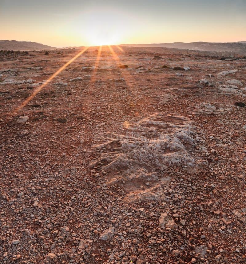 Martian Sunrise Stock Photo Image - Sunrise looks like mars
