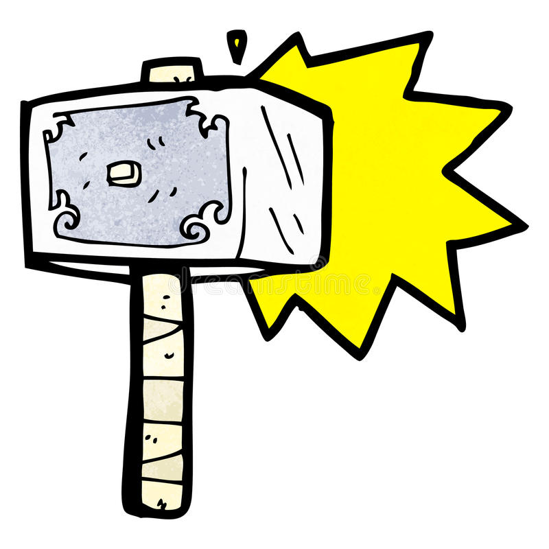 martillo de la historieta del thor ilustración del vector