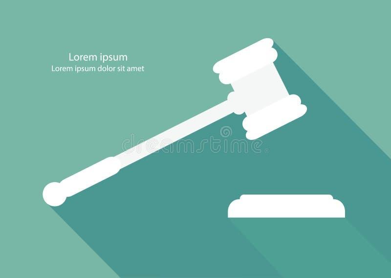 Martillo de la justicia ilustración del vector