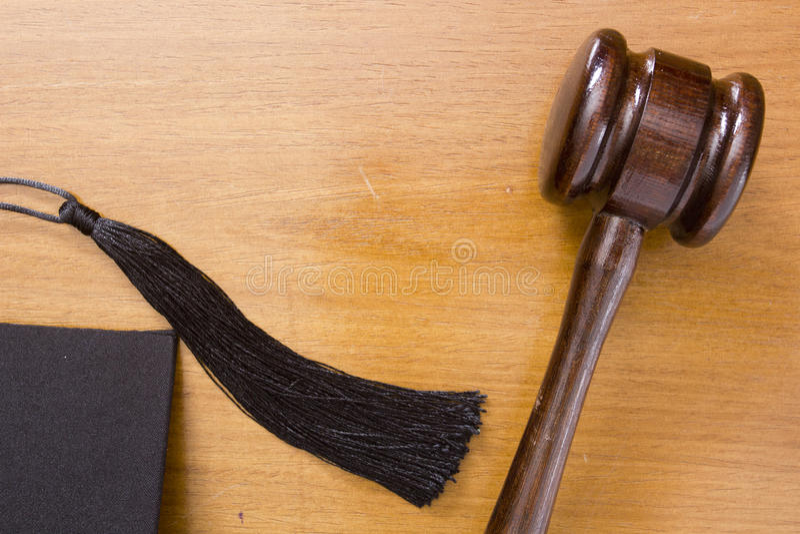 Martillo de madera del árbitro foto de archivo libre de regalías