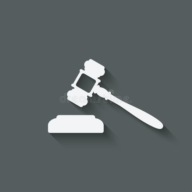 Martillo del juez o del subastador stock de ilustración