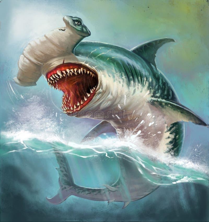 Martillo del tiburón ilustración del vector