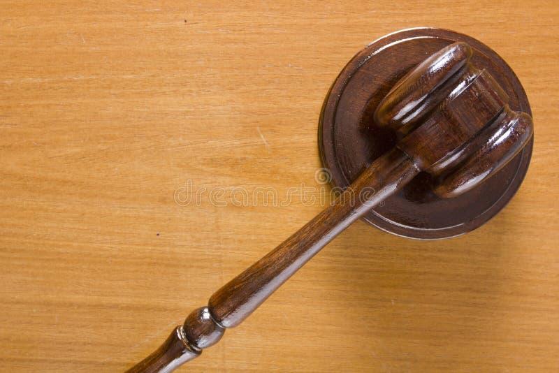 Martillo usado ante el tribunal fotografía de archivo libre de regalías