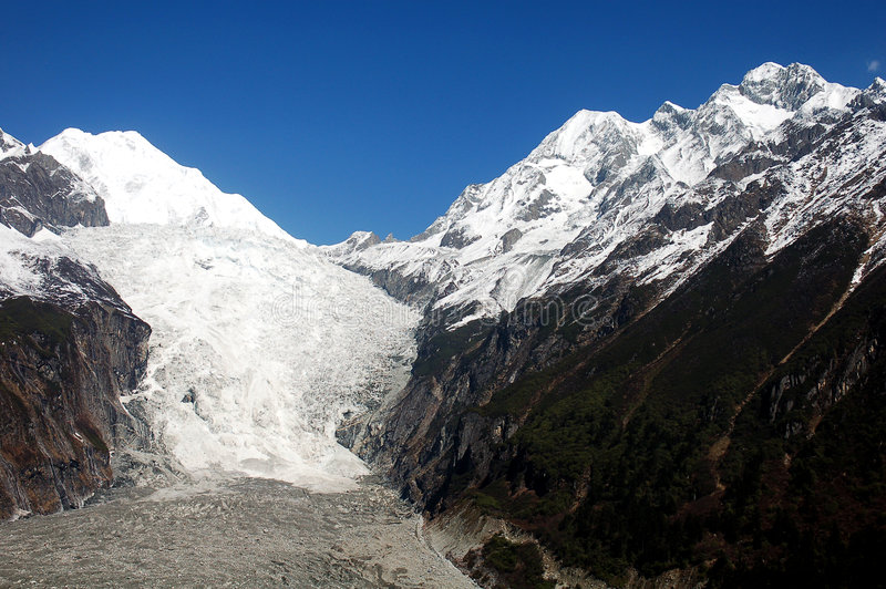 Martime glacier in China stock photography