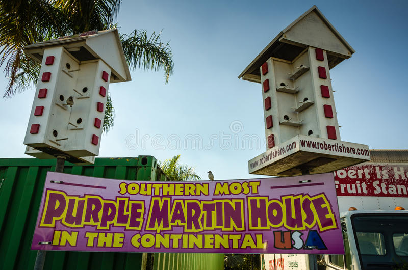 Martin House pourpre - ferme, FL photos libres de droits