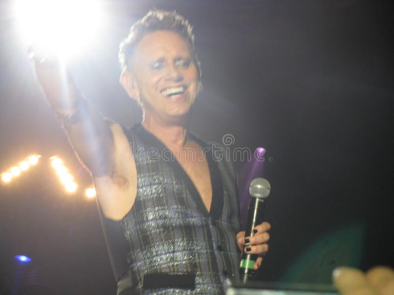 Martin Lee Gore Depeche funktionsläge arkivfoton