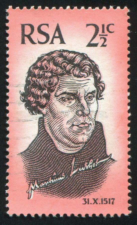 Martin Luther που τυπώνεται από τη Νότια Αφρική στοκ εικόνες με δικαίωμα ελεύθερης χρήσης