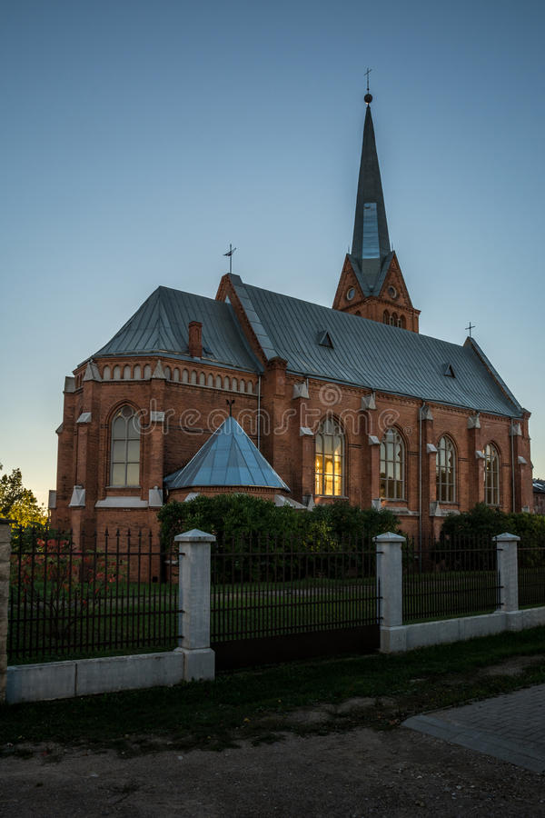 Martin Luther Cathedral, Letland stock afbeeldingen
