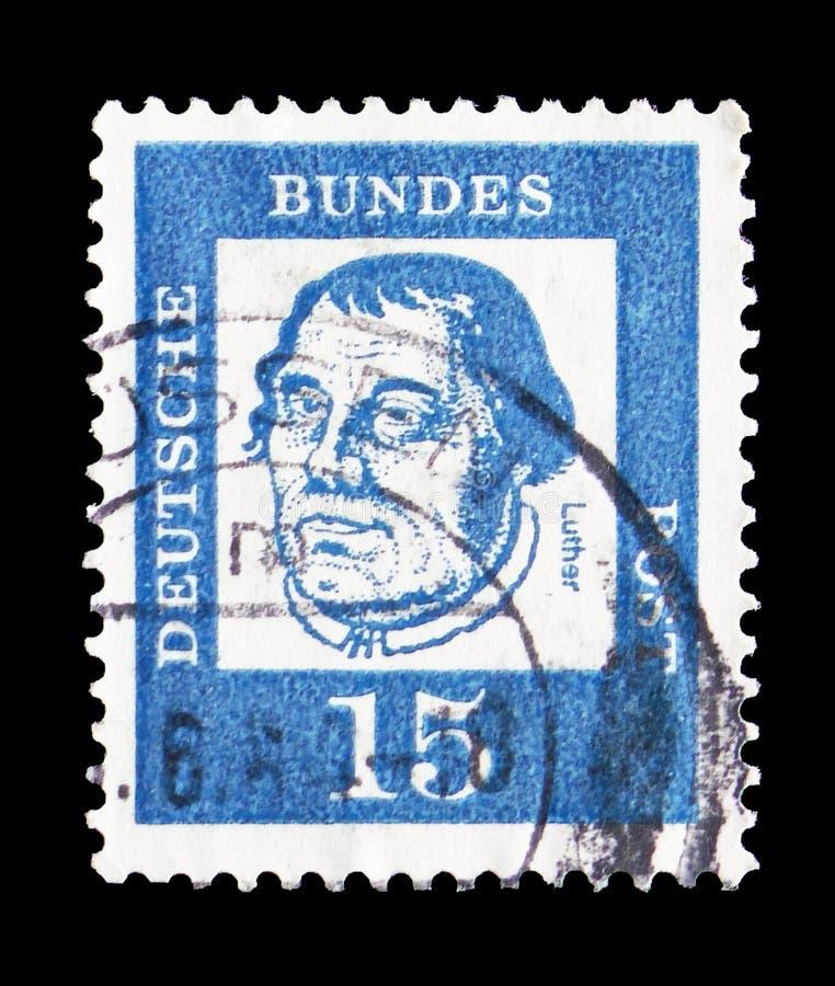 Martin Luther (1483-1546), hervormer, onderscheidde Duitsers serie, circa 1961 royalty-vrije stock foto's