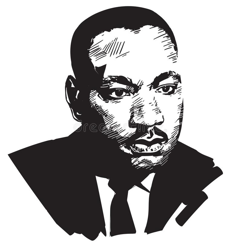Martin Luther King royaltyfri illustrationer